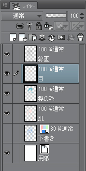 デジタル絵の色塗りをレイヤーに分けて塗っている画像