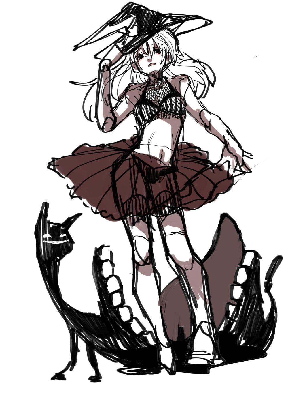 魔女の女の子のイラスト